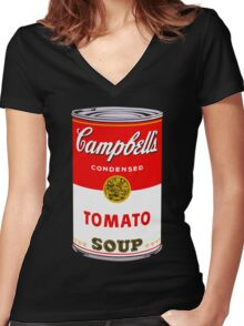 Campbell's Tomato Soup Can - Andy Warhol Women's Fitted V-Neck T-Shirt
