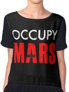 Occupy Mars - Distressed Chiffon Top