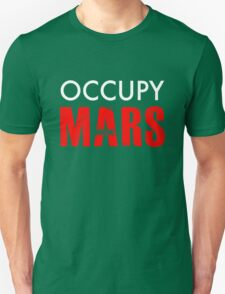 Occupy Mars - Distressed Unisex T-Shirt