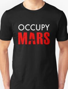 Occupy Mars - Distressed Unisex T-Shirt