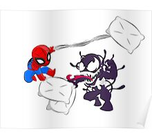 Spiderman and Venom have a Pillow Fight! Poster