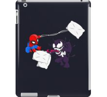 Spiderman and Venom have a Pillow Fight! iPad Case/Skin