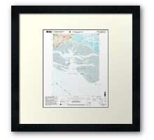 USGS TOPO Map Alaska AK Cordova B-5 355159 2000 63360 Framed Print