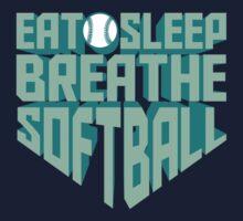 Eat. Sleep. Breathe. Softball. - Sports T shirt Kids Tee