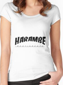 R.I.P Harambe Women's Fitted Scoop T-Shirt