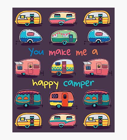 Happy camper Photographic Print