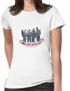 Who you gonna call?- banner Womens Fitted T-Shirt