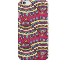 Colorful doodle ornament Background. Bright seamless abstract pizza pattern. iPhone Case/Skin