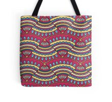 Colorful doodle ornament Background. Bright seamless abstract pizza pattern. Tote Bag