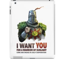 I want YOU for a Warrior of Sunlight iPad Case/Skin