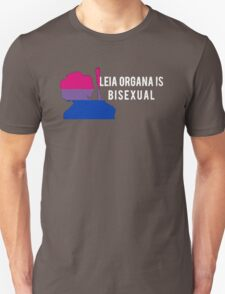 Leia Organa is Bisexual (White) Unisex T-Shirt