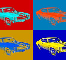 1971 chevrolet Chevelle SS pop Art by KWJphotoart