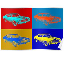 1971 chevrolet Chevelle SS pop Art Poster