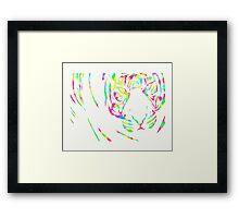 Multi-coloured Tiger Framed Print