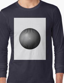 Black and White Star Globe Long Sleeve T-Shirt