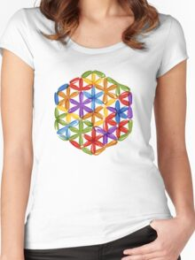 Flower of Life, sketch Women's Fitted Scoop T-Shirt