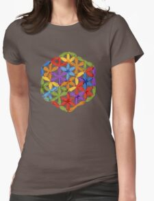 Flower of Life, sketch Womens Fitted T-Shirt