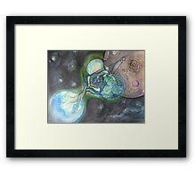 space journey Framed Print