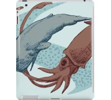 Sperm Whale And Giant Squid iPad Case/Skin
