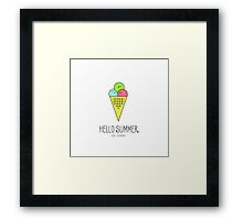 Cute Ice Cream icon. Hello Summer series. Colorful vector illustration. Clean work, minimum points Framed Print