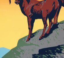 National Parks - Vintage Travel Poster Sticker