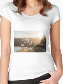 Enjoy The Little Things message Women's Fitted Scoop T-Shirt