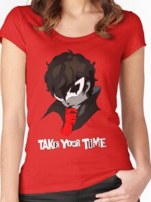Persona 5 Take Your Time Women's Fitted Scoop T-Shirt