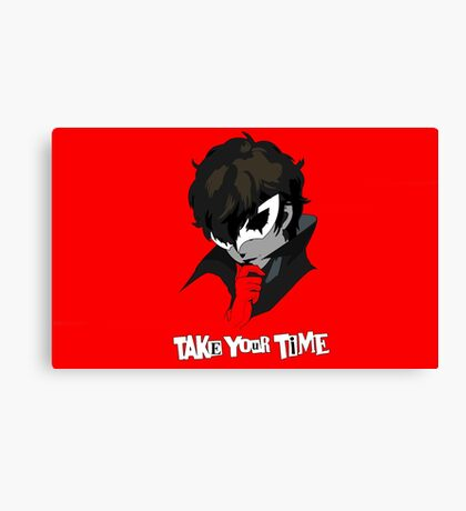 Persona 5 Take Your Time Canvas Print