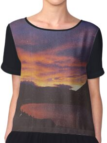 wake up & smell the campfire Chiffon Top