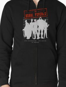 The Usual Psychos Zipped Hoodie