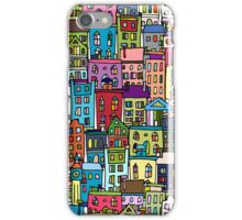Abstract cityscape background iPhone Case/Skin