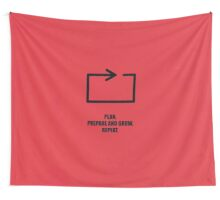 Plan, Prepare And Grow, Repeat - Corporate Start-Up Quotes Wall Tapestry