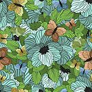 Seamless Summer Floral Pattern by Olga Altunina