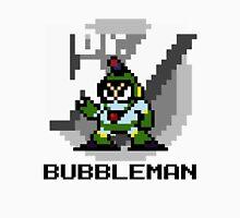 Bubbleman with text (Black) Unisex T-Shirt