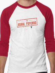 The Usual Psychos (Variant) Men's Baseball ¾ T-Shirt