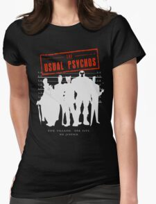 The Usual Psychos (Variant) Womens Fitted T-Shirt
