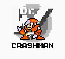Crashman with text (Black) Unisex T-Shirt