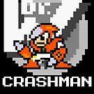 Crashman with text (White) by Funkymunkey