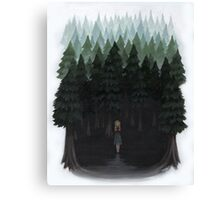 Laura Palmer in the Woods Canvas Print