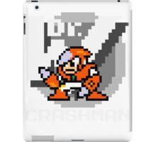 Crashman with text (White) iPad Case/Skin