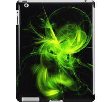 Green Flame Fractal iPad Case/Skin