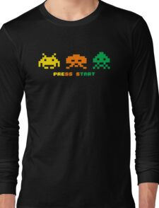 space invaders full colour Long Sleeve T-Shirt