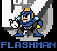 Flashman with text (Blue) by Funkymunkey