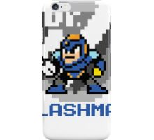 Flashman with text (Blue) iPhone Case/Skin
