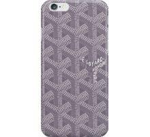 Goyard Perfect Case grey iPhone Case/Skin
