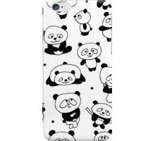 Funny panda family iPhone Case/Skin