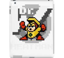 Heatman with text (White) iPad Case/Skin