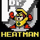 Heatman with text (Yellow) by Funkymunkey