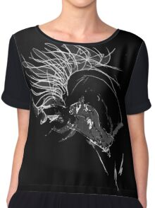 In the Mood, scribbled Women's Chiffon Top