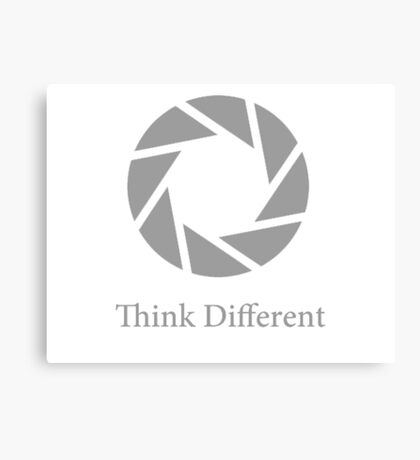 Aperture Science, Think Different Canvas Print
